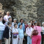 2013 Tour singing in courtyard of Conwy Castle northern Wales