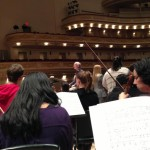 John Rutter at Carnegie Hall, rehearsal for Verdi REQUIEM, April 15, 2013