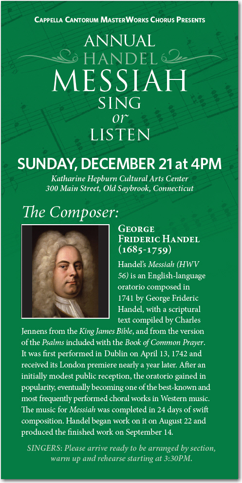 Annual Handel MESSIAH Sing or Listen poster