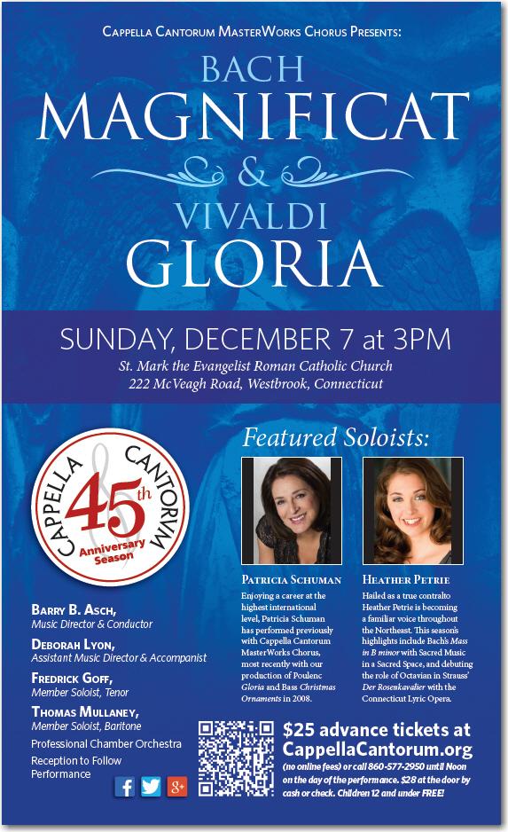 Bach Magnificat & Vivaldi Gloria poster