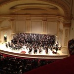 Verdi REQUIEM at Carnegie Hall, April 15, 2013