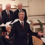 Men's Chorus at First Congregational Church of Granby, November 22, 2008, Larry Hamre solo