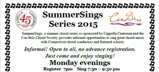 SummerSings Series 2015