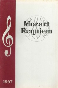 Mozart Requiem 1997, program cover