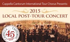International Tour Chorus 2015 Local Post-Tour Concert Performance header