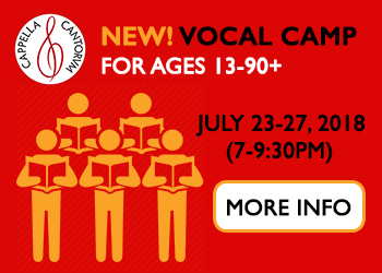 July Vocal Camp!